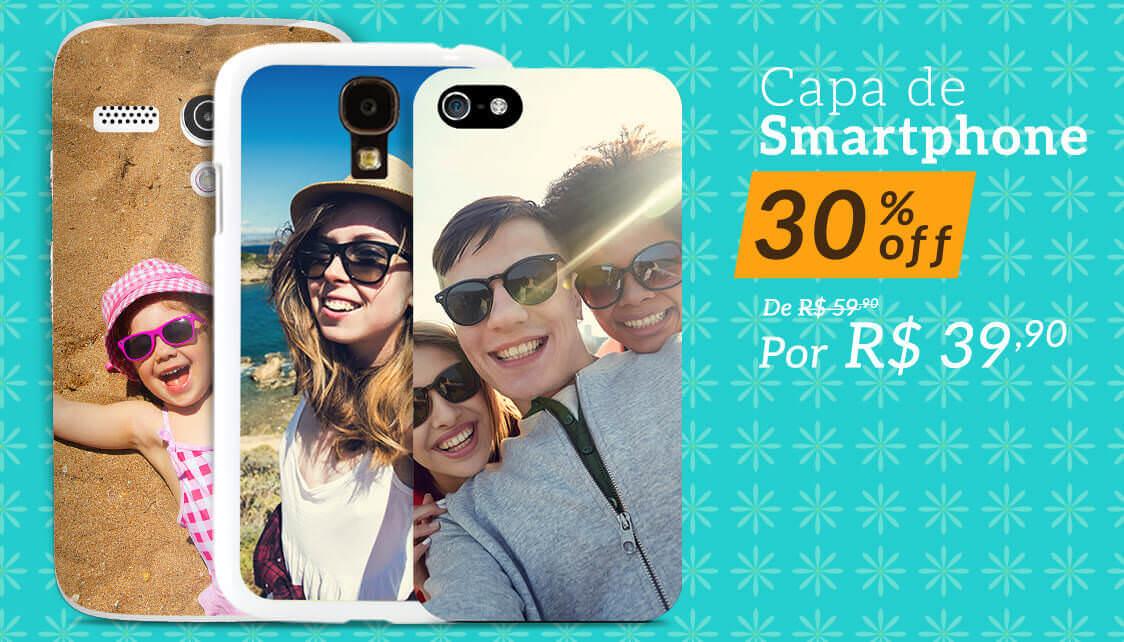 Banner: Capa de Smartphone 30%off por R$ 39,90