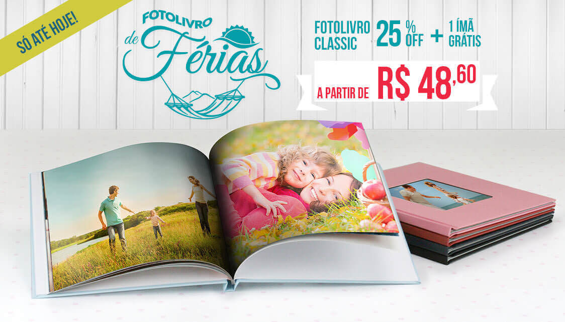 Banner: Fotolivro de férias a partir de R$ 59,90