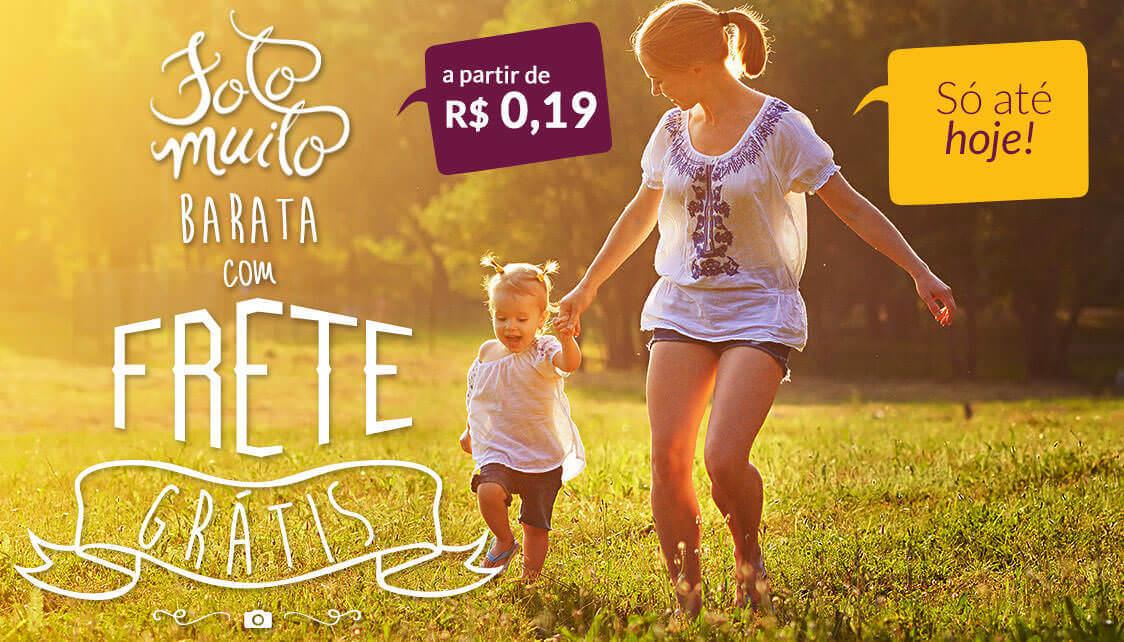 Banner: Foto muito Barata + Frete Grátis a partir de R$ 0,19